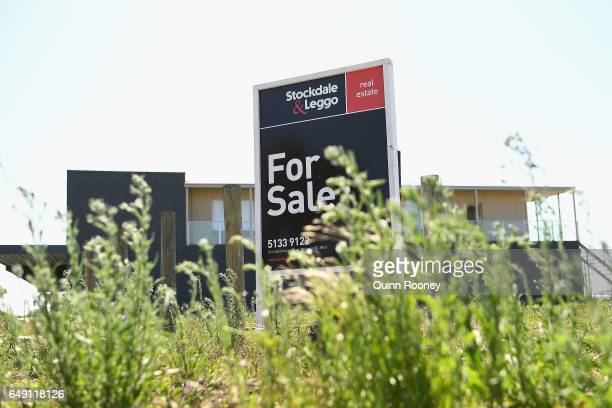 For Sale signs are seen on property in Morwell on February 26 2017 in Morwell Australia In November 2016 French owners of the Hazelwood Power Station...
