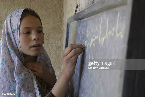 For seven years lessons at Mrs Halimeh Ghassemi's private school were carried out in secret after the Taliban forbid the education of girls Despite...