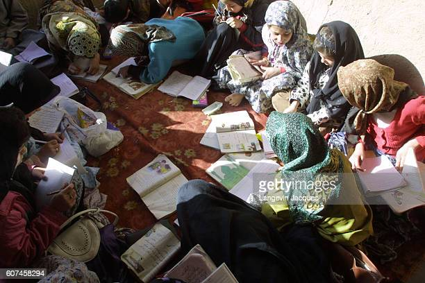 For seven years lessons at Mrs Halimeh Ghassemi's school were carried out in secret after the Taliban forbid the education of girls Despite the ban...