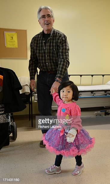 For Sick Kids Special Section Grace is all dressed up for her trip to the hospital she goes for a short walk with her dad David Liz and David...