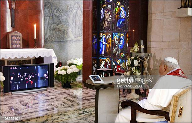 For the first time in his 26 year papacy, John Paul II was physically absent from the Good Friday commemoration, the latest in a series of Holy Week...