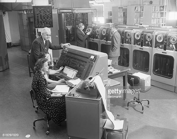 For the first time in history, the US Census Bureau begins tabulating results of the 1954 Census of Business with the UNIVAC, a giant electronic...