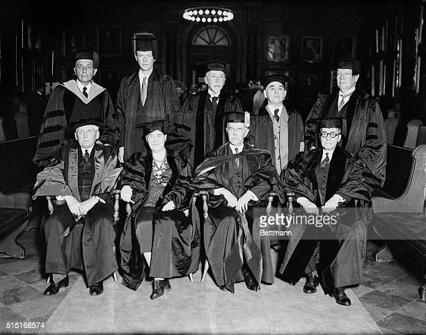 For the first time in its history Princeton University awarded an honorary degree to a woman when Willa Cather noted author was granted the degree of...