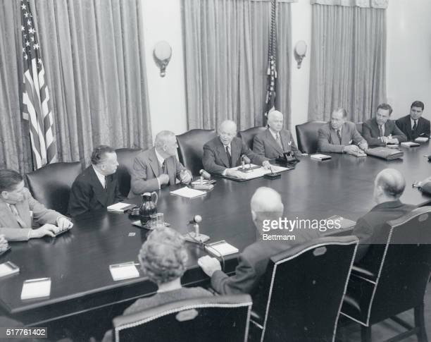 For the first time in the history of our Republic, a Cabinet meeting of the United States is photographed and televised in session. It was the...