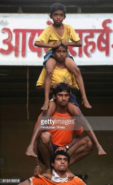 For the first time Mazgaon Dakshin Vibhag Sarvajanik Utsav Mandal at Tadwadi will be attempting 'char akke' a technique that will help them reach...