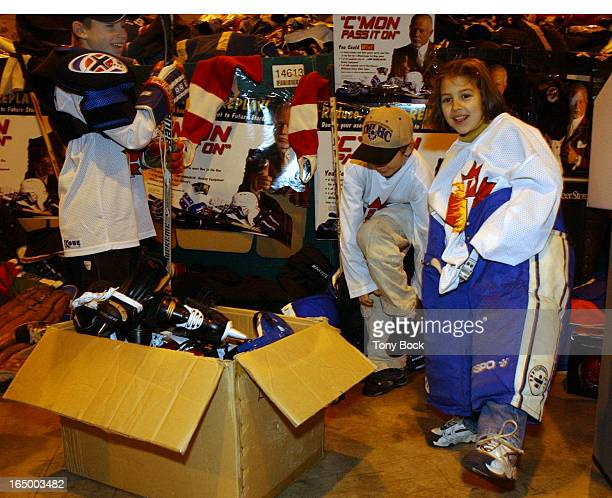 HOCKEY For the last month used hockey equipment has been collected through beer stores to be distributed to kids hockey organizations Jesse Bartle...