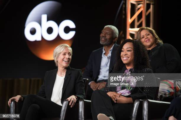 """For the People"""" Session - The cast and executive producers of """"For the People"""" addressed the press at Disney   Walt Disney Television via Getty..."""