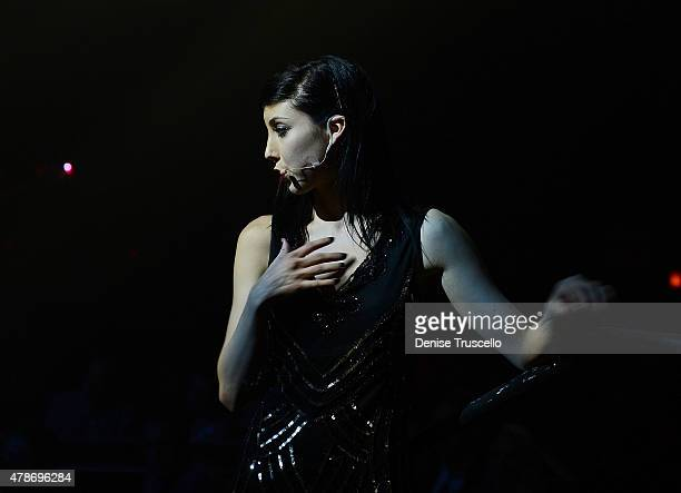 For The Record Baz cast member Briana Cuoco performs during opening night at Light Nightclub at the Mandalay Bay Resort and Casino on June 26 2015 in...