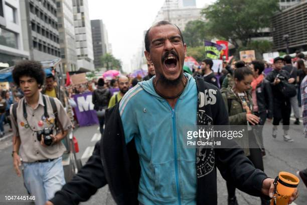 For the second week in a row, thousands of women and men took to the streets of Sao Paulo to protest against far right election candidate Jair...