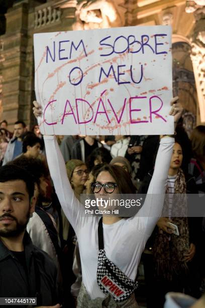 For the second week in a row thousands of women and men took to the streets of Sao Paulo to protest against far right election candidate Jair...