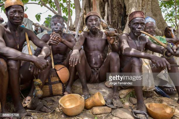 For the Yom tribe the circumcision ceremony is a very important rite of passage from boys to men The elders and VIP's of Yaka find the best place to...