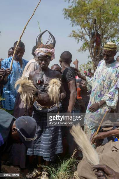 For the Yom tribe the circumcision ceremony is a very important rite of passage from boys to men Initiate with traditional attire approaching the...