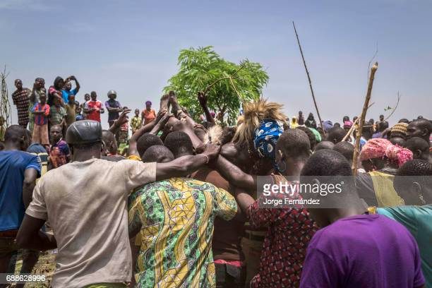 For the Yom tribe the circumcision ceremony is a very important rite of passage from boys to men After being circumcised the crowd take the initiate...