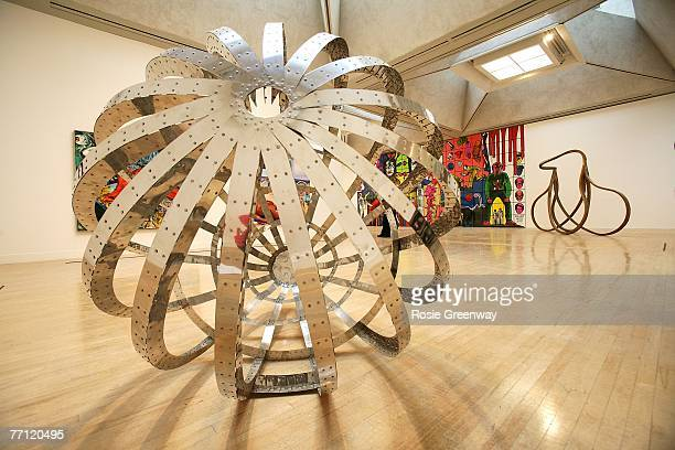 'For Those Who Have Eyes' by 1987 Turner Prize winner Richard Deacon is displayed at the Turner Prize Retrospective exhibition at the Tate Britain on...