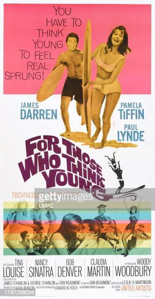 For Those Who Think Young poster US poster top from left James Darren Pamela Tiffin 1964