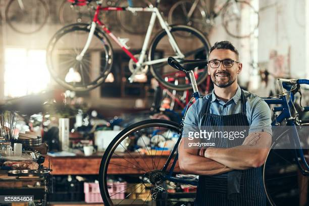 for trusted bicycle repair, i'm your guy - craftsman stock photos and pictures