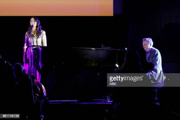 CONCERT 'For Your Consideration Event' Pictured Sara Bareilles Andrew Lloyd Webber at the Egyptian Theatre Hollywood Calif on May 21 2018