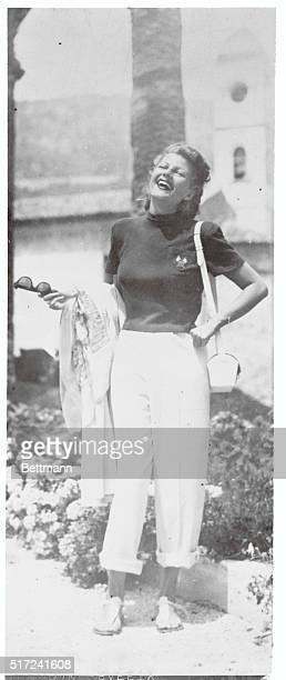 For Your Women's Page Nice France Hollywood's first lady of glamour appears to have found another place in need of loveliness Rita Hayworth the...