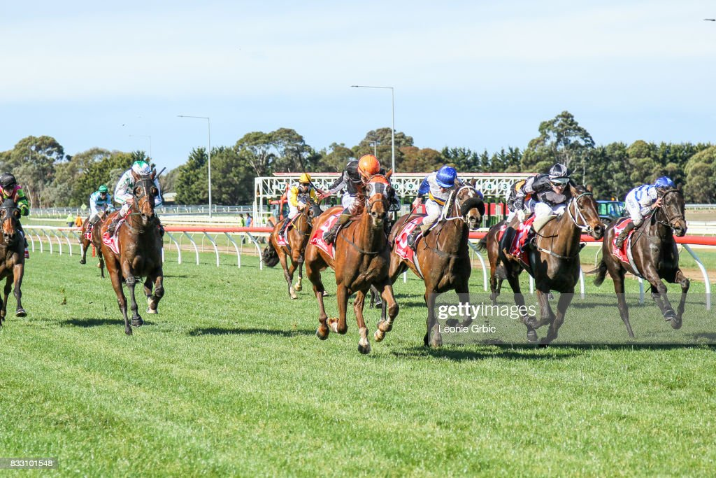 Foraoise ridden by Arron Lynch wins the Laurels Function Centre Maiden Plate at Sale Racecourse on August 17, 2017 in Sale, Australia.