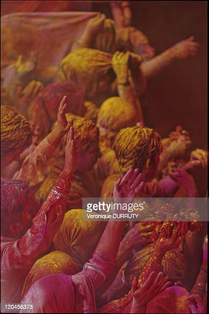 """Foray Into The Heart Of Holi In India In March, 2007 - For Holi festival """" the festival of colors"""" enhancing Krishna and Radha love, indian people..."""