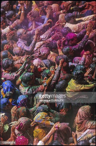Foray Into The Heart Of Holi In India In March 2007 For Holi festival ' the festival of colors' enhancing Krishna and Radha love indian people throw...