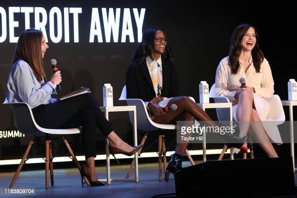 Forbes Editor-in-Chief Moira Forbes, Nia Batts of Detroit Blows, and actress Sophia Bush of Detroit Blows speak during the 2019 Forbes 30 Under 30...