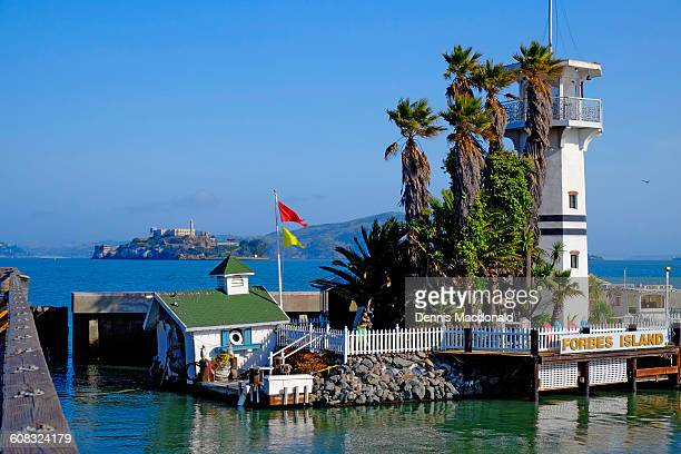 forbes island pier 39 san francisco california ca - fishermans wharf stock pictures, royalty-free photos & images