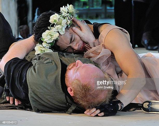 Forbes Masson as Bottom performs on stage during a performance of A Midsummer Night's Dream by the Royal Shakespeare Company In collaboration with...