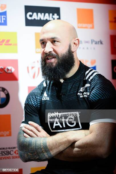 DJ Forbes of New Zealand during Captains photocall and press conference prior to the Hsbc Paris Rugby Sevens on May 11 2017 in Paris France