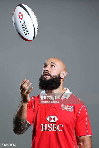 Forbes of New Zealand poses during a portrait session ahead of the 2015 HSBC Wellington World Sevens Series on February 5 2015 in Wellington New...