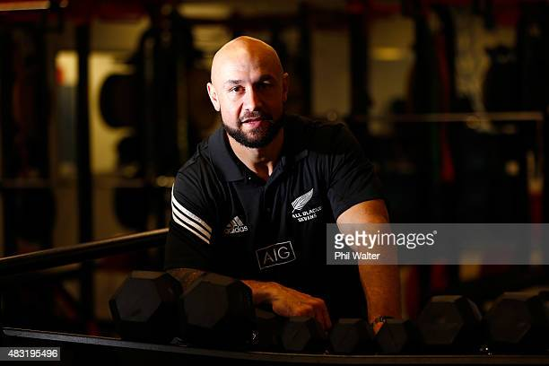 Forbes of the New Zealand All Black Sevens poses for a portrait following a press conference at Eden Park on August 07 in Auckland New Zealand Forbes...