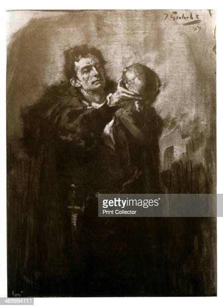 ForbesRobertson as Hamlet late 19th century British actor Sir Johnston ForbesRobertson in Shakespeare's 'Hamlet' Illustration from The Process Year...