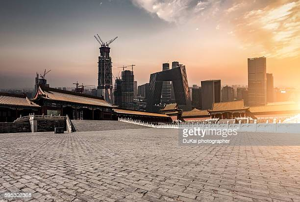Forbidden City and cbd in beijing
