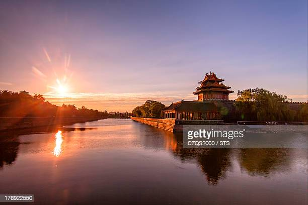 Forbidden City and its moat in the morning