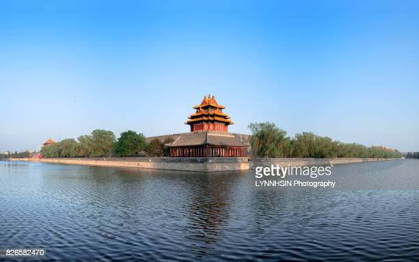 forbidden city corner and blue sky clean water - lynnhsin stock pictures, royalty-free photos & images