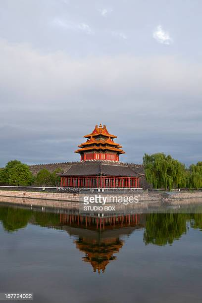 forbidden city corner, beijing - studio city stock pictures, royalty-free photos & images