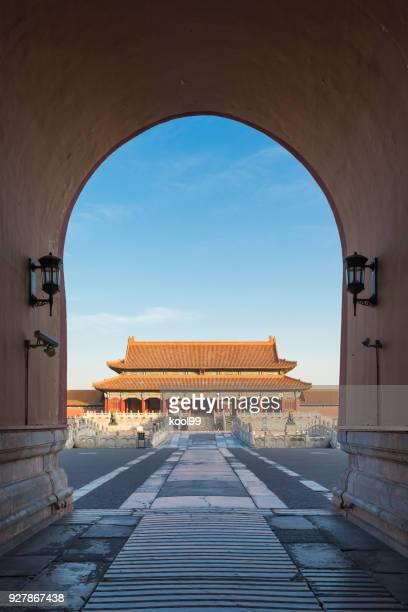 forbidden city gate - porträt bildbanksfoton och bilder