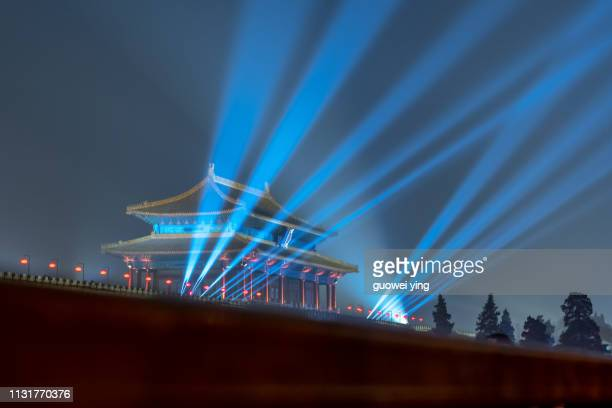 forbidden city light show - 目的地 fotografías e imágenes de stock