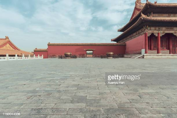 forbidden city - treasuregold stock pictures, royalty-free photos & images