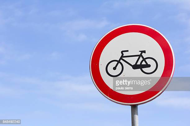 Forbidden for bicycles sign