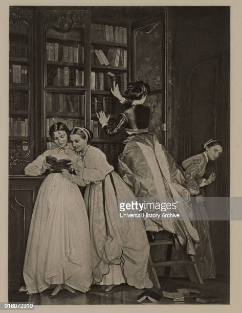 Forbidden Fruit Photogravure Print from the Original 1865 Painting by Auguste Toulmouche The Masterpieces of French Art by Louis Viardot Published by...
