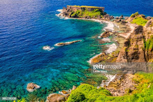 forbidden island from lookout. 7812 - 北マリアナ諸島 ストックフォトと画像
