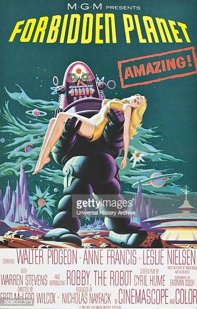 'Forbidden Planet' starring Walter Pidgeon Anne Francis and Leslie Neilsen a 1956 science fiction film