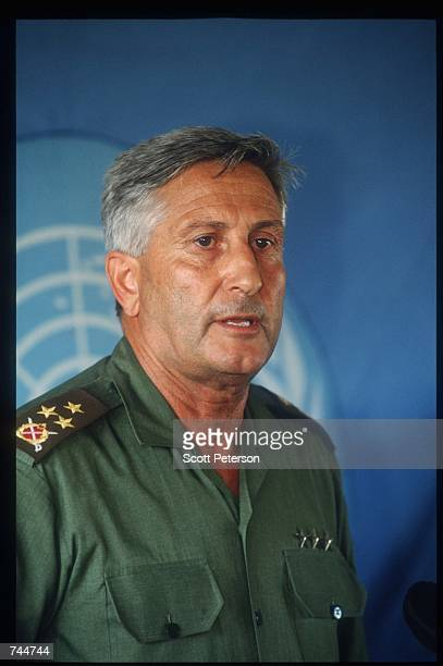 Force commander Cevik Bir poses December 6 1993 in Mogadishu Somalia US gunships attacked the compound of warlord Mohammad Aidid in response to...