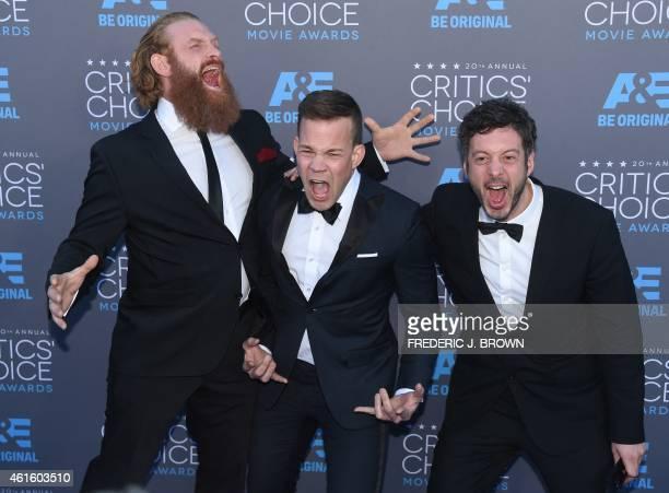 'Force Majeure' editor Jacob Secher Schulsinger actors Johannes Kuhnke and Kristofer Hivju arrive at the 20th Annual Critics Choice Awards January 15...