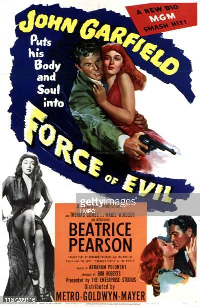 Force Of Evil poster Marie Windsor John Garfield Beatrice Pearson 1949