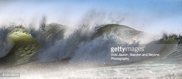 Forceful Wave and Spray at Jones Beach, Long Island