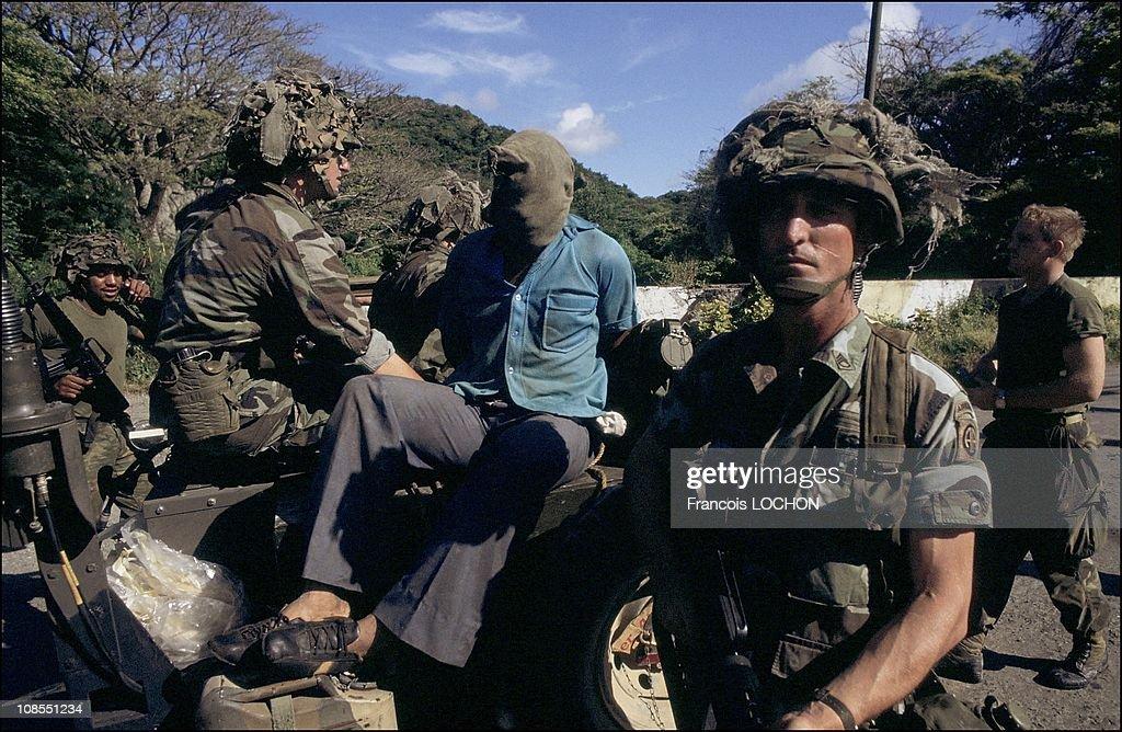 The US marine in Grenada on November 02nd, 1983. : News Photo