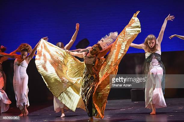 Forces of Nature Dance Theatre at the Kwanzaa Celebration Regeneration Night at The Apollo Theater on December 27 2014 in New York City