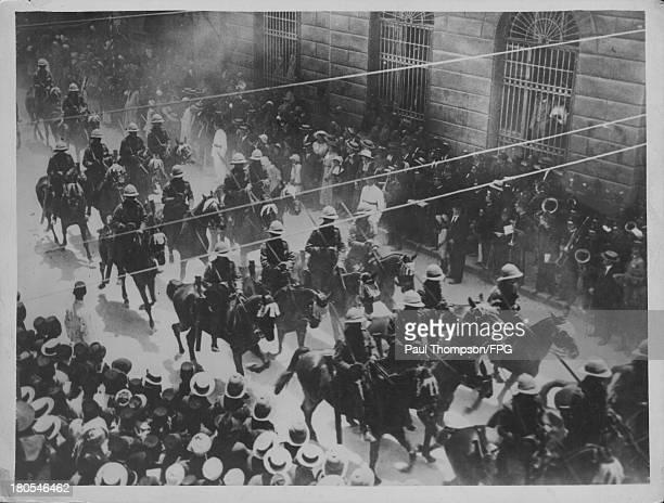 ANZAC forces passing through Alexandria during World War One Egypt circa 19141918